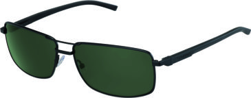 Tag Heuer Automatic Sunglasses, Black Frame/Black Black Temples, Green Precision Lens, Polarized 0883-311