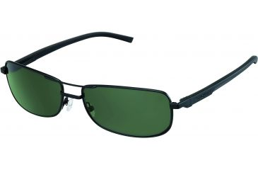 Tag Heuer Automatic Sunglasses, Black Frame/Black Black Temples, Green Precision Lens, Polarized 0885-311