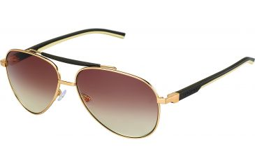 Tag Heuer Automatic Sunglasses, Gold Frame/Dark Brown Ivory Temples, Gradient Brown Lens 0881-204