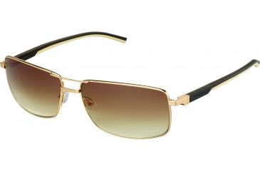 Tag Heuer Automatic Sunglasses, Gold Frame/Dark Brown Ivory Temples, Gradient Brown Lens 0883-204