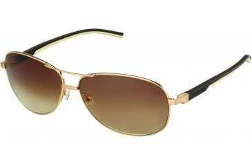 Tag Heuer Automatic Sunglasses, Gold Frame/Dark Brown Ivory Temples, Gradient Brown Lens 0884-204