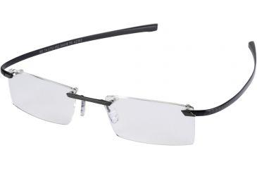 Tag Heuer C-Flex Eyeglasses, Black Ceramic Frame/Carbon Temples, Clear Lens 0712-002