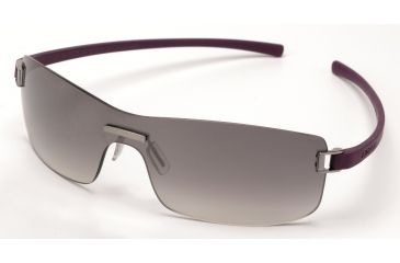 Tag Heuer Club Sunglasses, Brushed Ruthenium Frame/Purple Temples, Gradient Grey Lens 7508-107