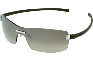 Tag Heuer Club Sunglasses, Shiny Palladium Frame/Havana Temples, Gradient Brown Lens 7508-202