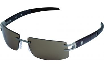 Tag Heuer L-Type LW Sunglasses, Pure Frame/Alligator Matte Brown Black Black Temples, Brown Outdoor Lens 0401-201