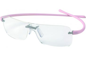 Tag Heuer Panorama Reflex Eyeglasses, Titanium Frame/Pink Temples, Clear Lens 3501-003