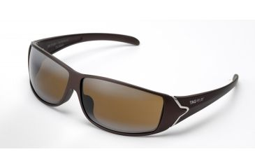 Tag Heuer Racer Sunglasses, Sand Polished Frame/Brown Temples, Brown Outdoor Lens 9204-702