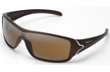 Tag Heuer Racer Sunglasses, Sand Polished Frame/Brown Temples, Brown Outdoor Lens 9206-702