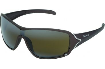 Tag Heuer Racer Sunglasses, Sand Polished Frame/Brown Temples, High Mountain Lens, Polarized 9201-802