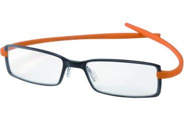 Tag Heuer Reflex 2 Eyeglasses, Chocolate Ceramic Frame/Orange Temples, Clear Lens 3703-022