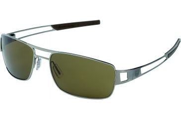 Tag Heuer Speedway Sunglasses, Ruthenium Frame/Havana Temples, Brown Precision Lens, Polarized 0203-201