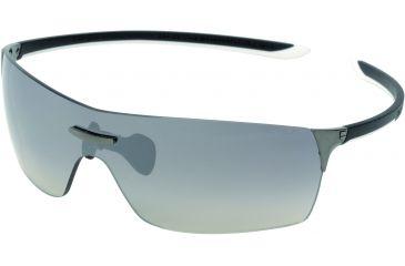 Tag Heuer Squadra Sunglasses, Dark Frame/Black White Temples, Gradient Grey Lens 5501-110