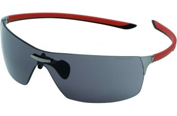 cdf8c3c9d Tag Heuer Squadra Sunglasses, Dark Frame/Red Black Temples, Grey Outdoor  Lens 5502