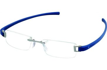 Tag Heuer Track Eyeglasses, Ruthenium Frame/Smart Blue Temples, Clear Lens 7101-016
