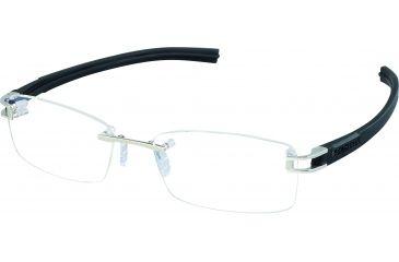 Tag Heuer Track S Eyeglasses, Pure Frame/Black Black Temples, Clear Lens 7645-011