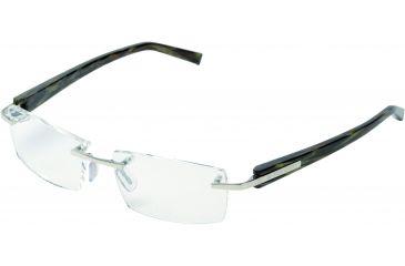 Tag Heuer Trends Eyeglasses, Polished Frame/Brown Fiber Temples, Clear Lens 8102-005