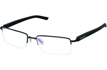 Tag Heuer Trends Rubber Sunglasses, Matte Black Frame/Black Black Temples, Clear Lens 8207-001