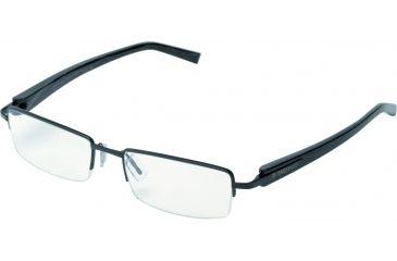 Tag Heuer Trends Sunglasses, Black Chrome Frame/Black Fiber Temples, Clear Lens 8203-006