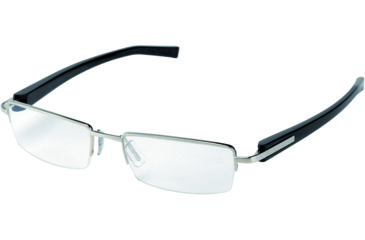 Tag Heuer Trends Sunglasses, Brushed Frame/Carbon Temples, Clear Lens 8203-007
