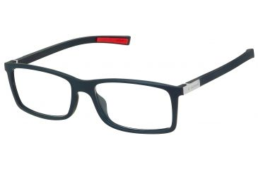 Tag Heuer Urban 7 Eyeglasses, Matte Black Frame/Red Temples, Clear Lens 0511-001