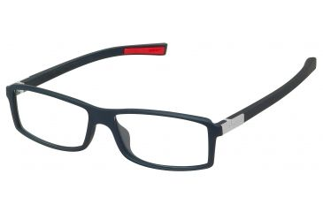 Tag Heuer Urban 7 Eyeglasses, Matte Black Frame/Red Temples, Clear Lens 0513-001