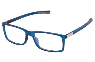 Tag Heuer Urban 7 Eyeglasses, Matte Blue Frame/Grey Temples, Clear Lens 0511-008