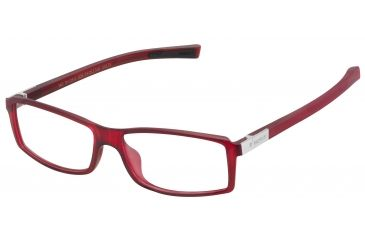 Tag Heuer Urban 7 Eyeglasses, Matte Red Frame/Black Temples, Clear Lens 0513-009
