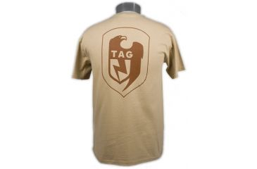 Tactical Assault Gear TAG Logo Tee Shirt Tan - Back