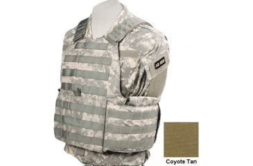 TAG Rampage Armor Plate Carrier Vest, Small/Medium, Coyote Tan 812379