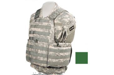 TAG Rampage Armor Plate Carrier Vest, Small/Medium, Ranger Green 812380