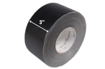 TAG Waterproof Tape 3inx60 yards Black 132224