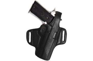 Tagua Gunleather Mini Thumb Break Leather Belt Holster For 1911 Five Inch Right Hand Black