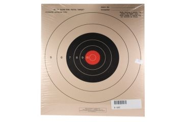 Target Barn B-16 Slow Fire Pistol Targets With Red Center 100 Per Pack