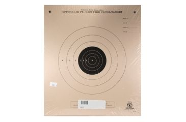 Target Barn B-2 Slow Fire Pistol Paper Target With Black Center 100 Per Pack