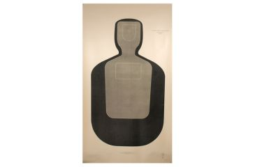 Target Barn TQ-19 Law Enforcement Training Silhouette Paper Targets 100 Per Pack