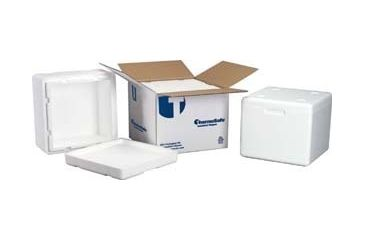 Tegrant Thermosafe ThermoSafe Insulated Shippers, Expanded Polystyrene, ThermoSafe Brands 325UPS Assembled Foam Unit In Corrugated Carton