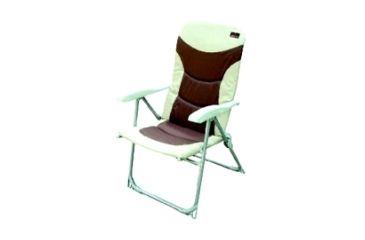 """Texsport Adjustable Reclining Chair, Steel Frame, 19.0"""" x 15.5"""" x 40.0"""", Fabric Brown, Tan Seat 15145TEX"""