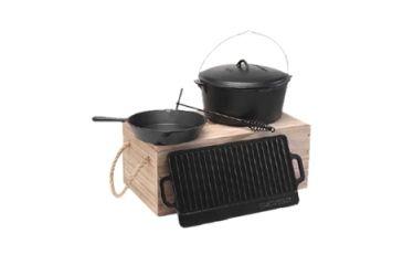 Texsport Cast Iron Cookware Set W 1 Gal Dutch Oven