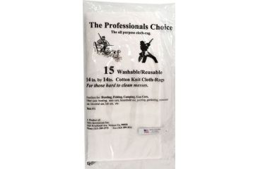9-The Professionals Choice 100% Cotton Knit White Square Patches