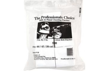 4-The Professionals Choice 100% Cotton Knit White Square Patches