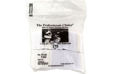 16-The Professionals Choice 100% Cotton Knit White Square Patches
