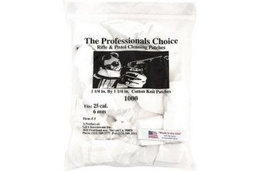 7-The Professionals Choice 100% Cotton Knit White Square Patches