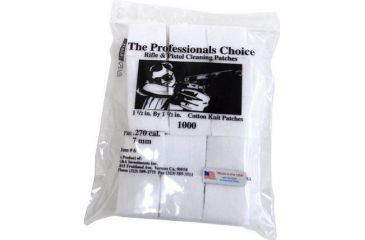 6-The Professionals Choice 100% Cotton Knit White Square Patches