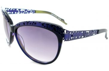 Thierry Mugler 10206 Purple-Chartreuse-Mat Purple Frame, Purple Gradient Lenses Frame Womens Sunglasses, 59-13-125 10206-C3