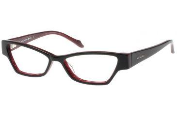 Thierry Mugler Single Vision Prescription Eyeglasses 9300 Black-Plum Frame, Women, 52-15-135 9300-C2RX