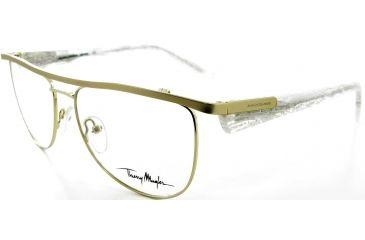 Thierry Mugler Single Vision Prescription Eyeglasses 9330 Gold-Pearl Frame, Women, 54-17-140 9330-C2RX