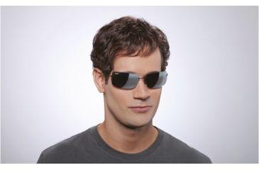 Maui Jim Thousand Peaks Sunglasses w/ Blue Frame and Neutral Grey Lenses - 517-03, On Model