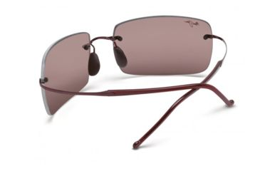 Maui Jim Thousand Peaks Sunglasses w/ Burgundy Frame and Maui Rose Lenses - R517-07, Back View