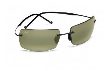 Maui Jim Thousand Peaks Sunglasses w/ Gloss Black Frame and Maui HT Lenses - HT517-02, Quarter View