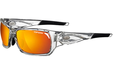 Tifosi Optics Duro w/ Clear, Smoke Bright Blue, Smoke/Red Glare Guard Lenses, Crystal Clear Frame 1030105314